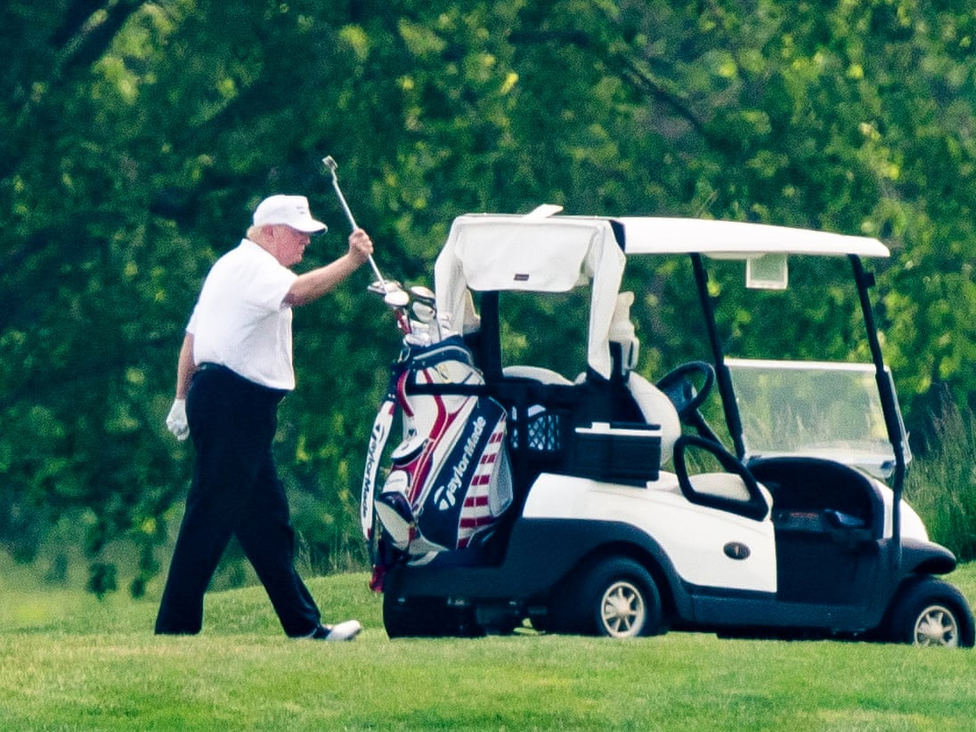 President Trump Urged Again To Reopen The Economy While Defending Himself On Playing Golf