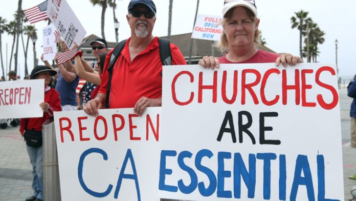 California's prohibition of religious services is upheld in the Federal Appeals Court
